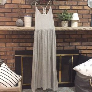 Dresses & Skirts - Beautiful striped maxi with lace detailing in back